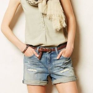 Anthropologie Pilcro Hyphen Denim Shorts Size 26